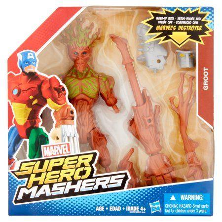 Hasbro Marvel Super Hero Mashers Groot Toy Figurine, Age 4+, Gray