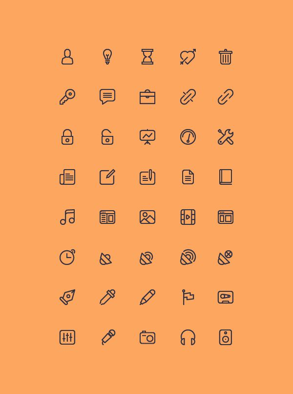 Cicons: 40 Outline Icons, #AI, #EPS, #Free, #Graphic #Design, #Icon, #Outline, 3PSD, #Resource, #Vector