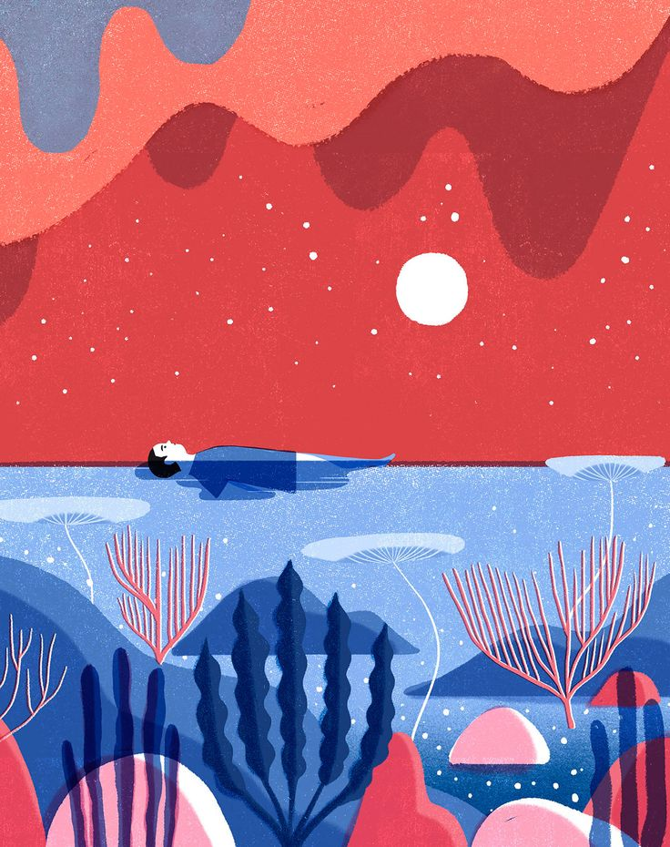 Illustration for Weekend magazine. About having the presence of the sea in all aspects of your life.