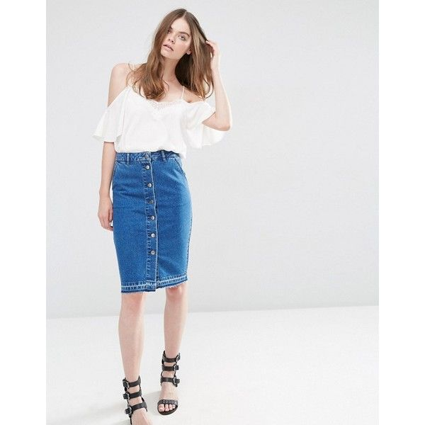 20  beste ideeën over High waisted denim skirt op Pinterest