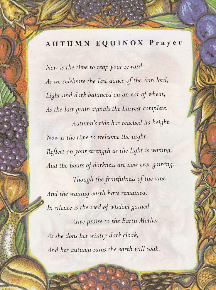 Autumn Equinox:  #Autumn #Equinox Prayer.