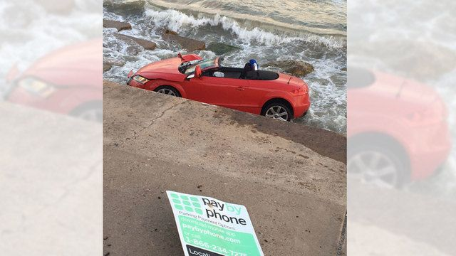 A-3 Convertible: Not bad after an 8 ft plunge off a Seawall #Audi #cars #car #quattro