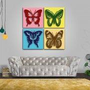 Vintage Auf der Suche nach Schmetterling Wanddeko Hier finden Sie diverse Formen Farben und Arten in Optik Ideal f r Wohnzimmer K che oder Schlafzimmer