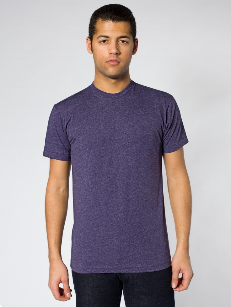 Poly-Cotton Short Sleeve Crew Neck | Crew Necks | Men's T-Shirts | American Apparel heather imperial purple
