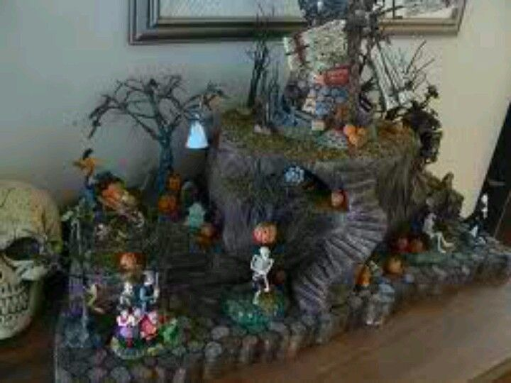 halloween village display dept 56 halloween display - Halloween Display Ideas