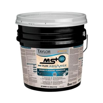 Taylor MS Plus 4-gal. Advance Wood Flooring Adhesive-MSPlus-4 at The Home Depot $135 covers 140 sq ft