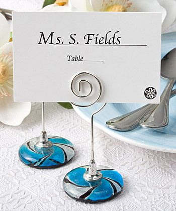 murano glass collection place card holders at