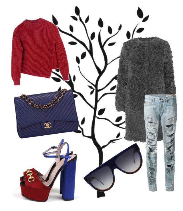 """""""Untitled #174"""" by stylistabb on Polyvore featuring L.K.Bennett, Gucci, rag & bone, Sportmax, Chanel and CÉLINE"""