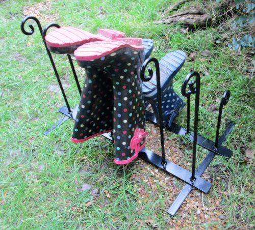Wrought Iron Style Wellington Boot Stand - 6 Pairs