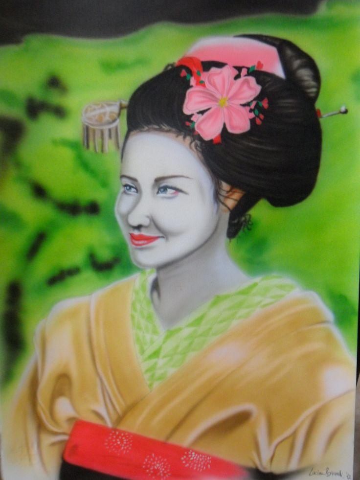 Geisha - aerografia su F4