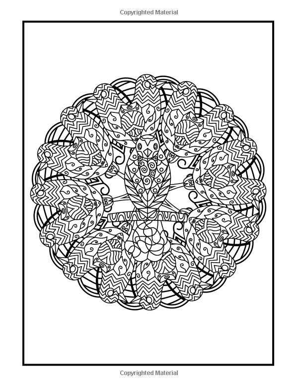Amazon Coloring Books For Grownups Feather Feastival Mandalas Geometric Shapes