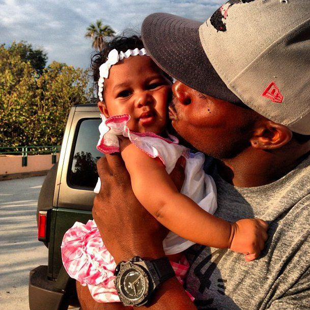 Pin for Later: The Sweetest Celebrity Dad Moments Reggie Bush and Briseis Source: Instagram user reggiebush