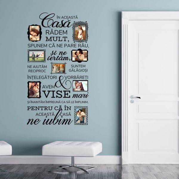 Ce zici de aceste reguli de familie? Stiai ca pot fi transformate intr-un decor modern, personalizat cu pozele voastre?    Aici vezi stickerul si pretul: https://www.tiparo.ro/stickere/stickere-de-perete/sticker-decorativ-family-is