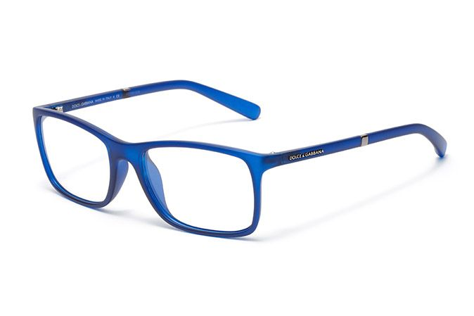 Mens gummed blue plastic and rubber eyeglasses with ...