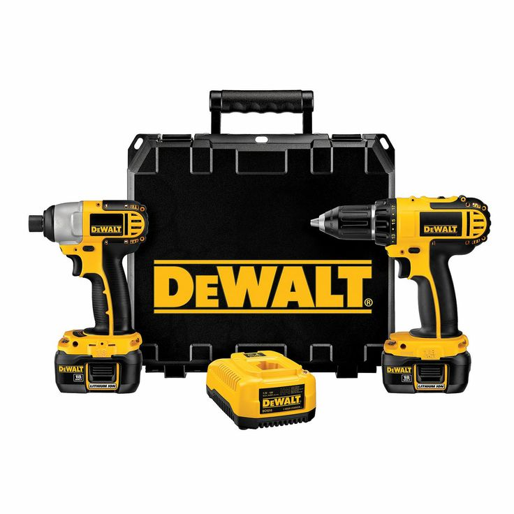 A must have for the handy man! DEWALT 18V Compact Li-Ion Drill Driver/Impact Driver Combo Kit #ATGStores