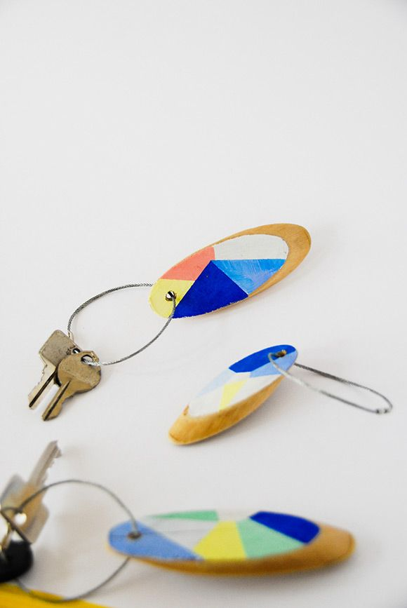 DIY Geometric Keyrings   Handmade Charlotte