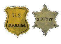 Etoile de sheriff, plaque de marshal