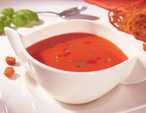 Gazpacho (Kalte Gemüsesuppe) - Rezept - ichkoche.at