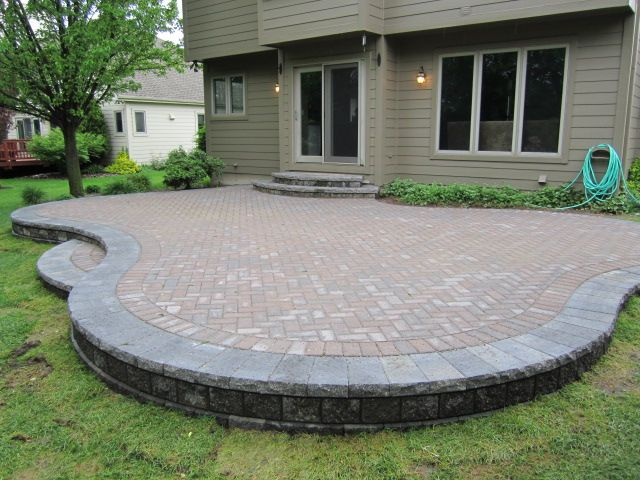 Backyard Patio Pavers - might need a step down to account for slope. - 25+ Best Ideas About Paver Patio Designs On Pinterest Patio