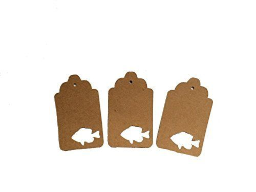 Bluegill Fish Gift Tags, Fish Decorations, Fishing Theme, Rustic Decorations, Woodland Decorations, Fish Party Supplies