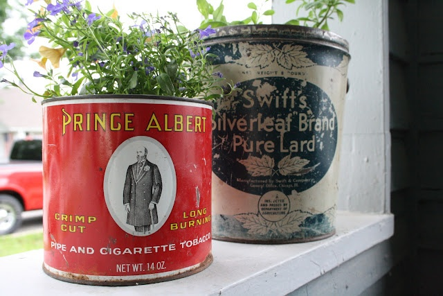 Misters and Misses: Tin Can Flower Pots