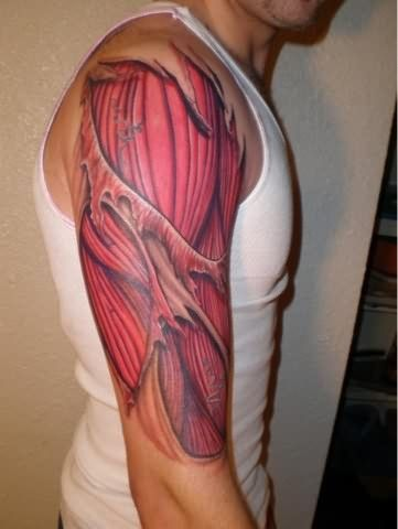 Red Muscles Tattoo