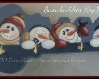 Snowmen Frosty and Flakey Snowman by LorriAllisenDesigns on Etsy