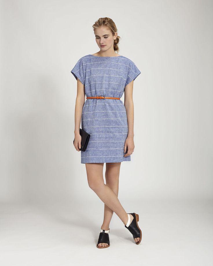 Women's Chambray Linen Cotton Riva Dress | Toast