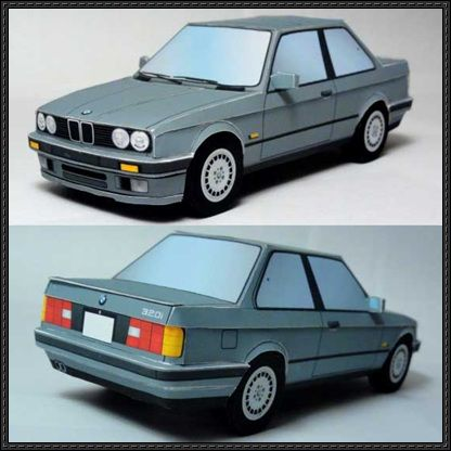 Bmw 320i paper car free vehicle paper model download for Compact mercedes benz crossword
