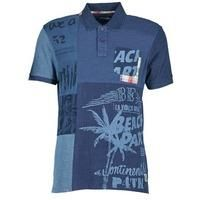 Desigual  BELUDINE  men's Polo shirt in blue , Desigual , Spartoo.co.uk