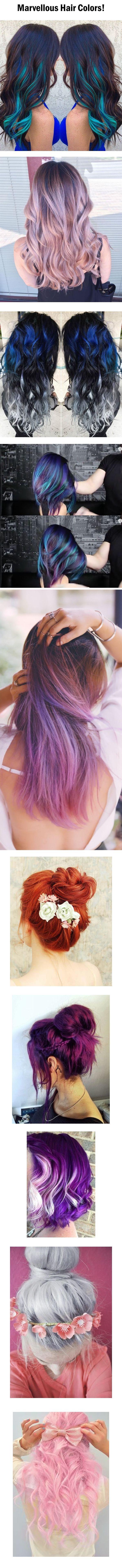 Χρώματα μαλλιών που εντυπωσιάζουν!!!