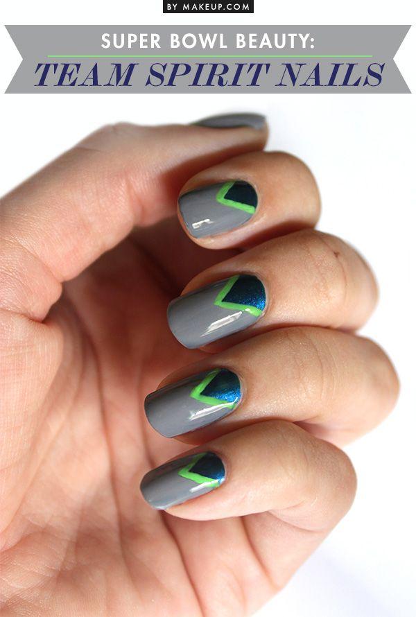 Super Bowl 2014 Nail Art