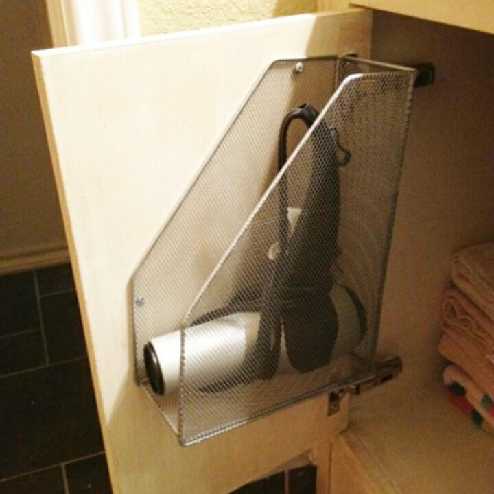 Delightful Hair Dryer Storage