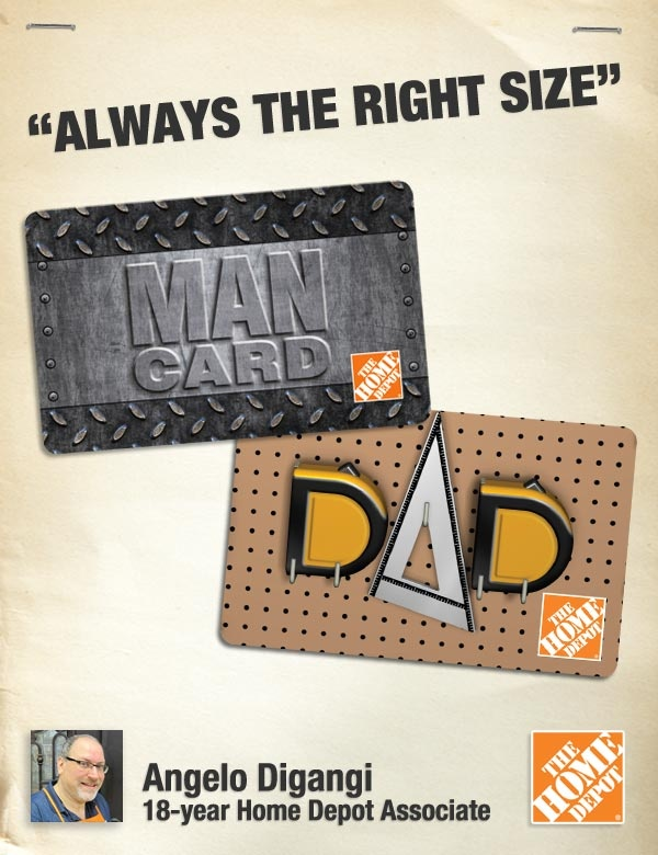 home depot father's day code
