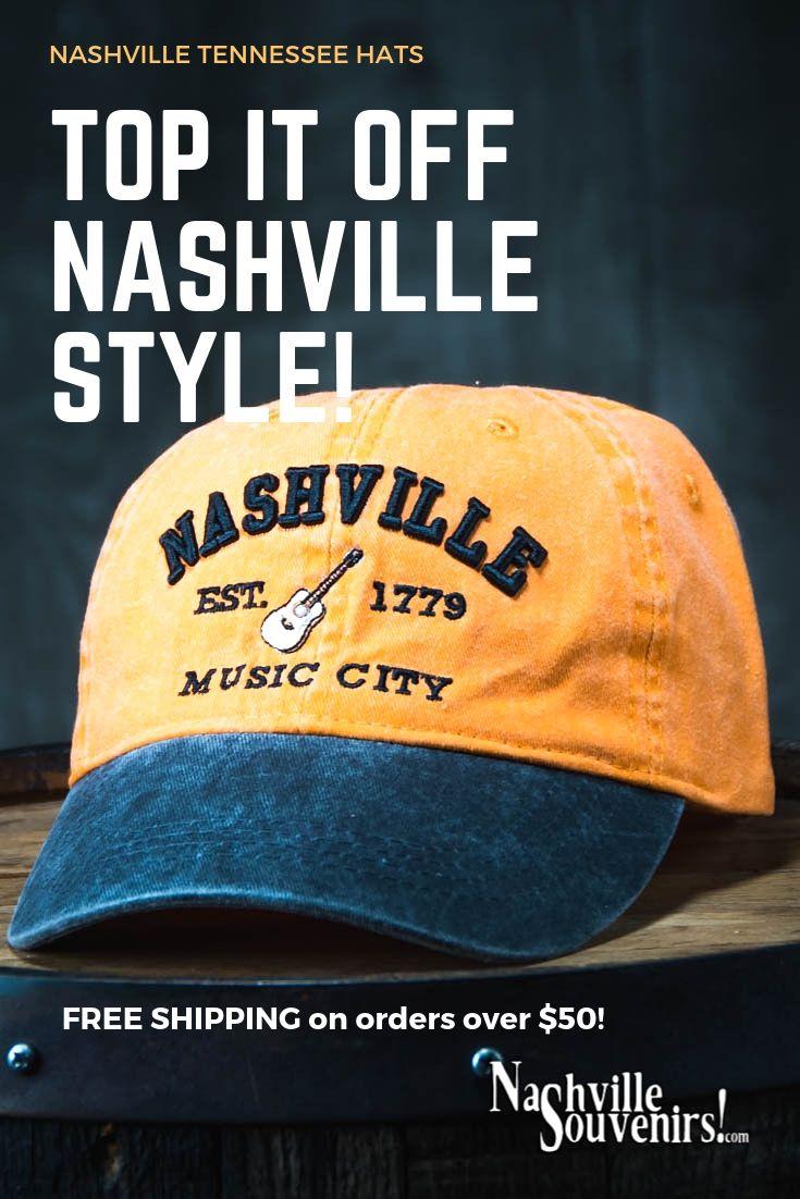 Nashville Est 1779 Music City Hat In Orange With Charcoal Bill Nashville Music City Nashville Nashville Music