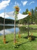 What A Cool Idea For A Wedding Trellis On Sylvan Lake