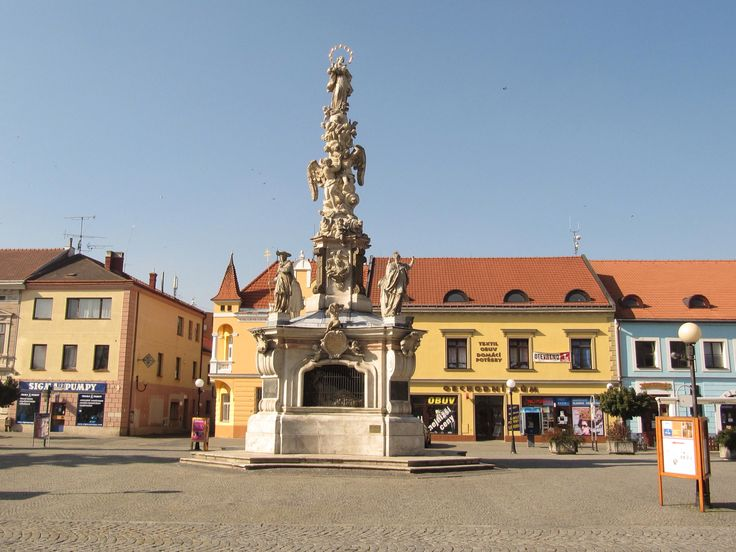 Town square, Uherske Hradiste, Czech Republic.