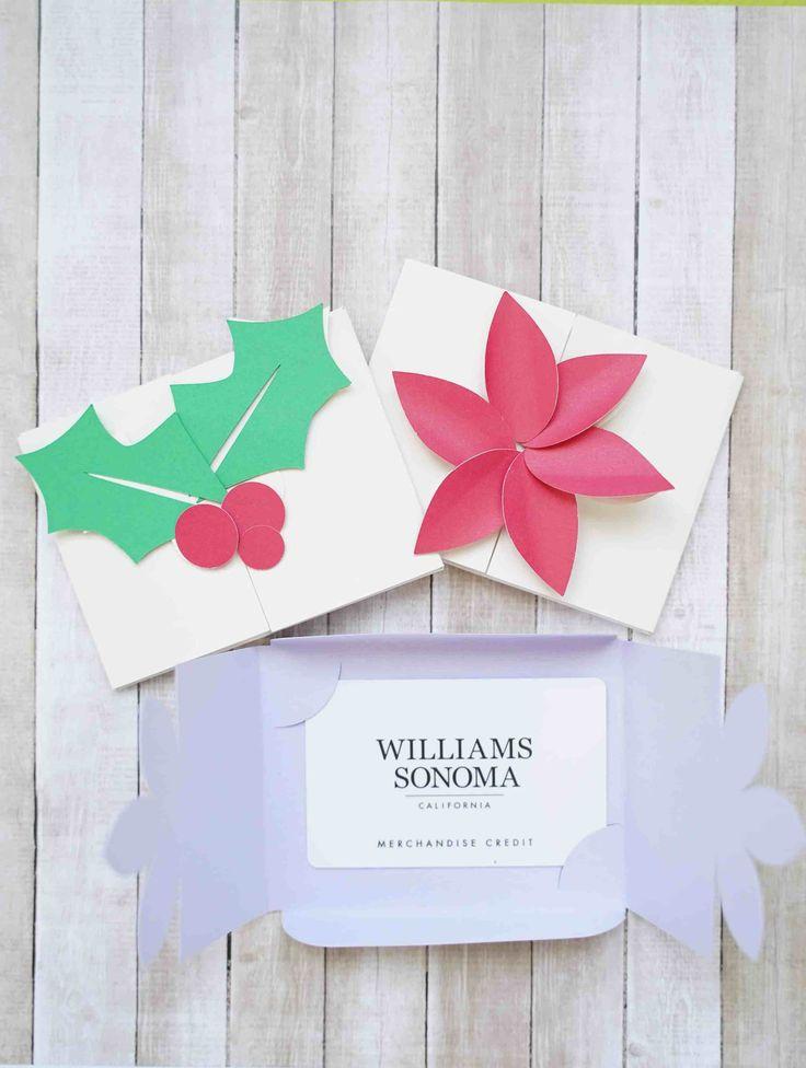 Cricut card making tutorials christmas gift card holders