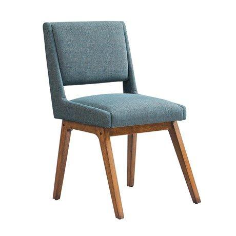"OLLIIX - Boomerang Side Chair 20.5x22x35"" Blue"
