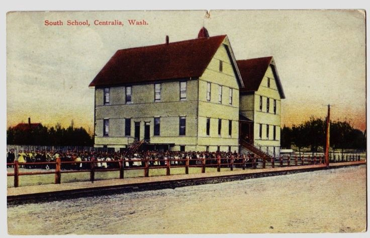 1907 CENTRALIA Washington WA Postcard South School Lewis County Students! picclick.com