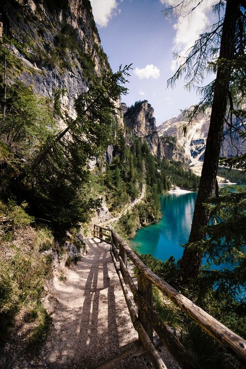 A walk around the mesmerising Lake Braies, Italy. Not bad. Not bad at all… See hotels nearby on our site, here. (Image via enemys-gate-is-down.tumblr.com)