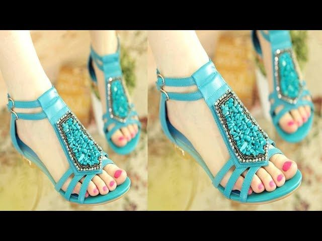 4f6a671f217338 Beautiful Latest Summer Flat Sandals / Shoes Collection 2017 for Girls  Womens Ladies