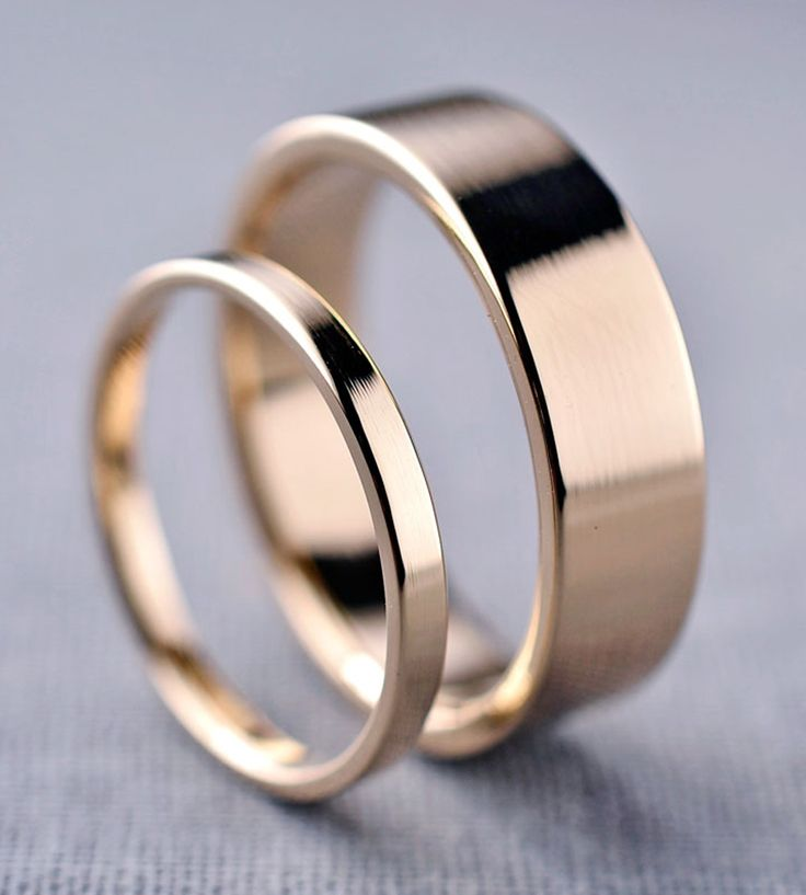 Yellow Gold Wedding Band Set   Here we have a simple pair of wedding bands, just right for th...   Rings