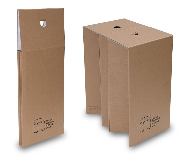 Portable Folding Cardboard Chair Stool Corrugated