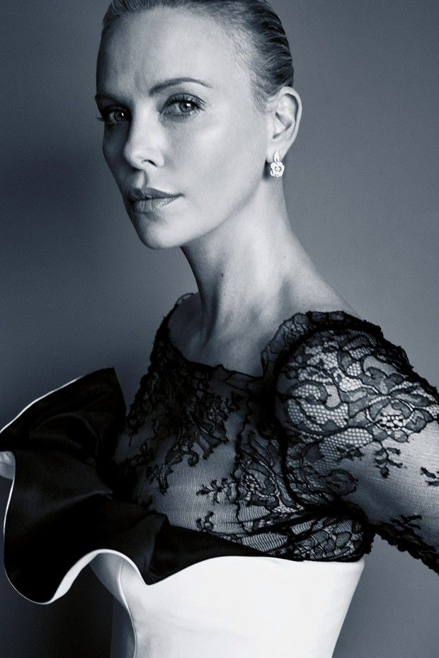 Cannes 2016 Portraits by Benoit Peverelli for Madame Figaro - Charlize Theron in Dior Spring 2016 Haute Couture