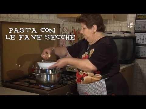 CUCINA ANTICA SICILIANA Puntata 0 - Pasta con le fave secche - - YouTube