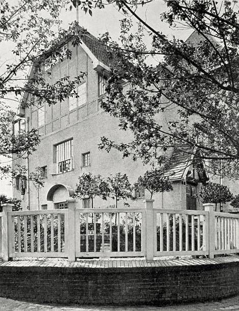 Pair of semidetached houses of Carl and Kolo Moser on the Hohe Warte in Vienna's 19th district Photograph from the magazine 'Das Interieur'...