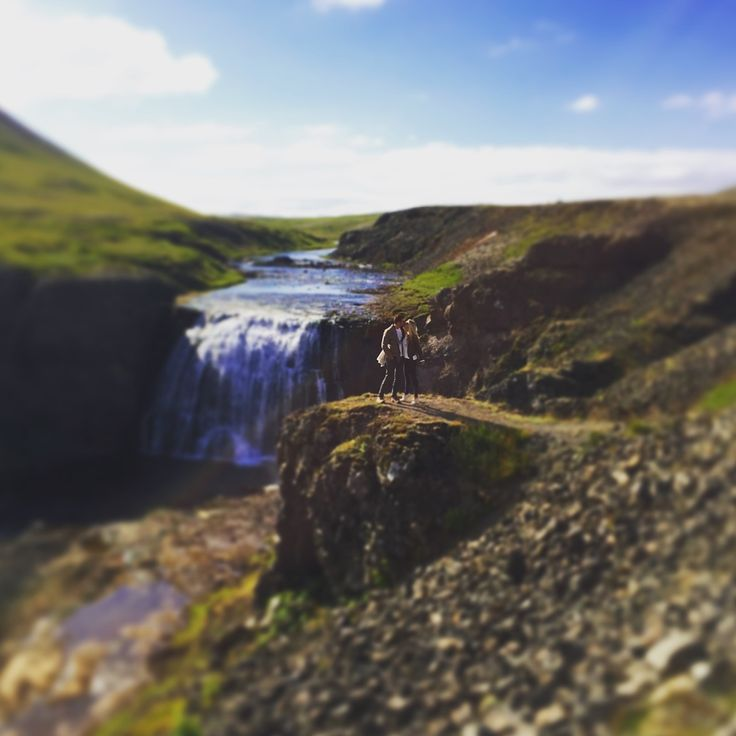Secret waterfall in Iceland just outside the Golden Circle