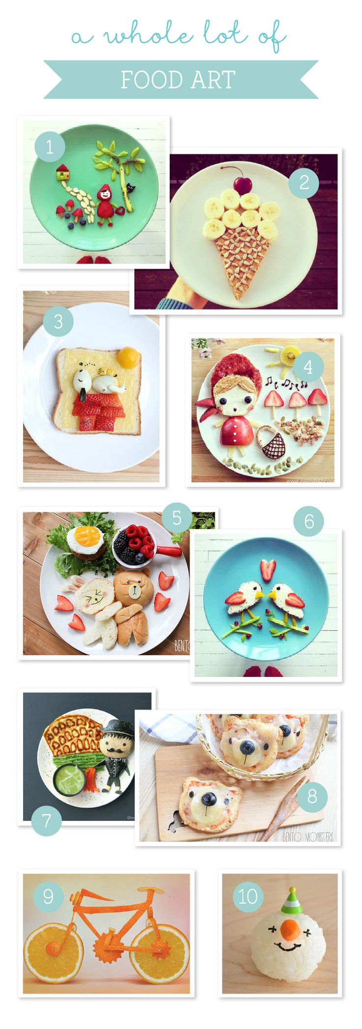 10 Amazingly Appetizing Food Art Designs ~ Tinyme