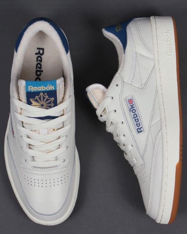 reebok x uo club c sneaker. reebok club c 85 retro gum trainers chalk white/blue - from originals x uo sneaker